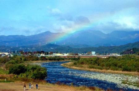 渡良瀬川の虹