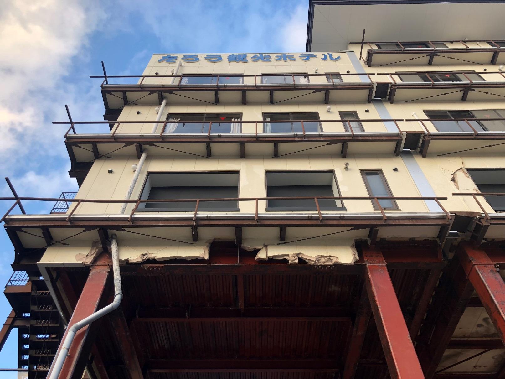 宮古市の津波遺構・たろう観光ホテル
