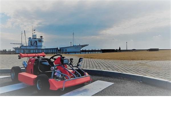 海沿いの道を感じながら走るレンタルカート「BOSO KART」