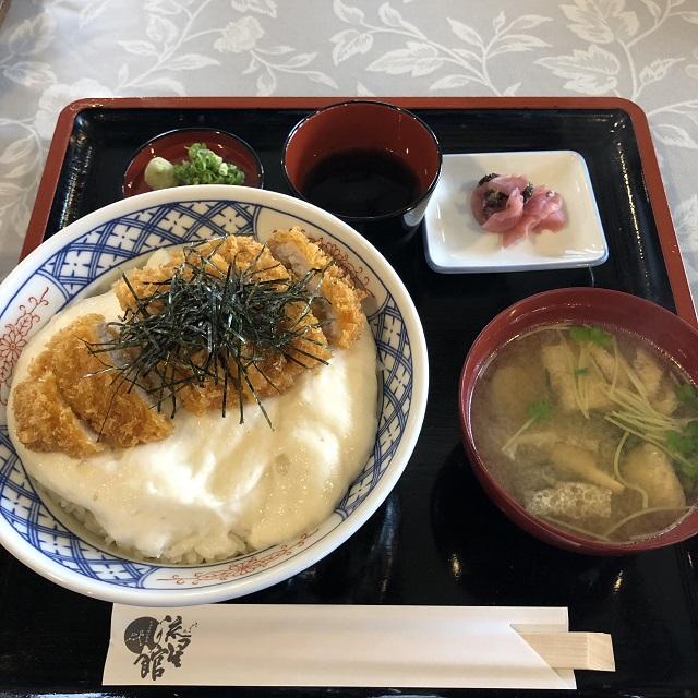 【道の駅 名田庄】「自然薯とろろカツ丼」